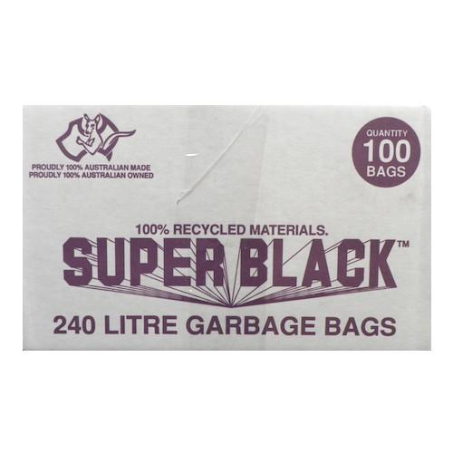 Super Black 240L Super Tough Heavy Duty Garbage Bag 100/ctn