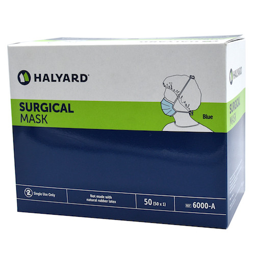 Halyard Surgical Mask with Ties 50/box (HAL6000)