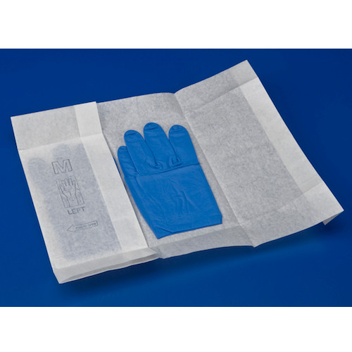 Medline Sterile Procedure Nitrile Blue Gloves Small 50 Pairs (MDS2294)