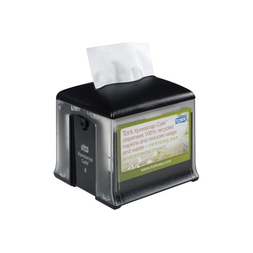 Tork® Xpressnap Café Tabletop Napkin Dispenser Black N10 (2307947) Tork Products
