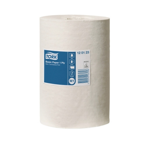 Tork Basic Paper 1ply Mini Centerfeed Roll M1 11 Rolls/ctn (120123) Tork Products
