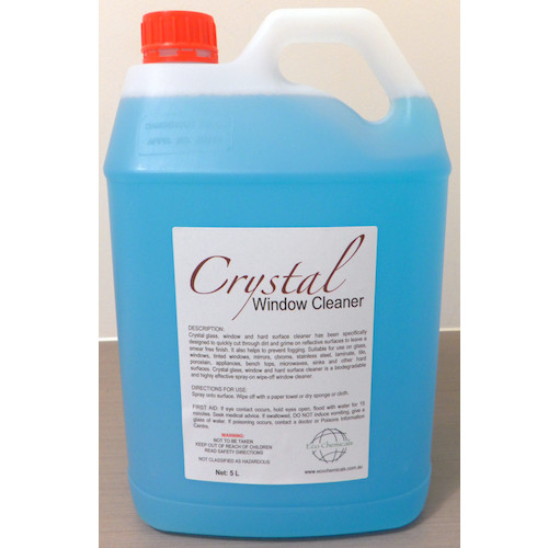 Crystal Glass, Window and Hard Surface Cleaner 5 Litres Eco Chemicals