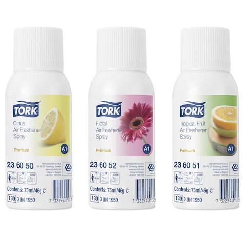 Tork Mixed Pack Air Freshener Spray A1 System 12 Refills x 75ml (236056)
