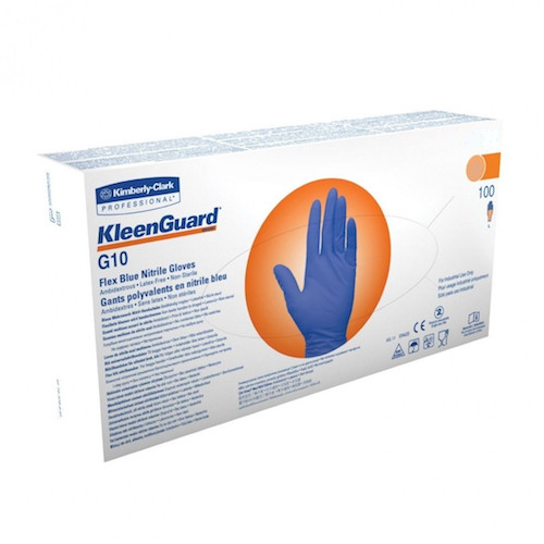 Kleenguard G10 Flex Blue Nitrile Gloves Small 100 Gloves (38519) Kimberly Clark Professional
