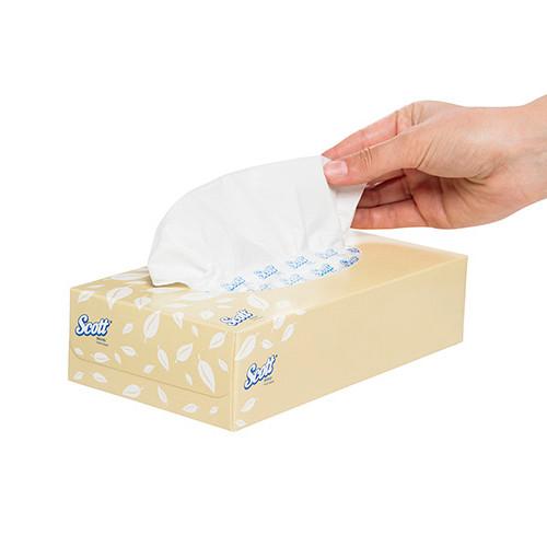Scott Facial Tissues 2 Ply 24 Packs x 100 Sheets (KC4725) Kimberly Clark Professional