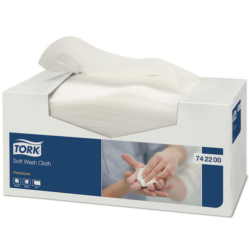 Tork Premium Wash Cloth Soft Lint Free 135 Towels (742200) Tork Products