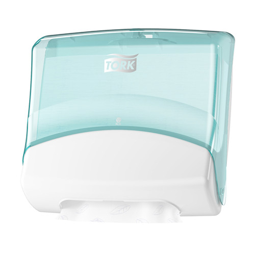 Tork® Dispenser Folded White/Turquoise W4 System (654000) Tork Products