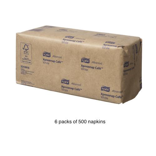 Tork Advanced Xpressnap Café White Napkins N10 3000/ctn (TK2310916) Tork Products