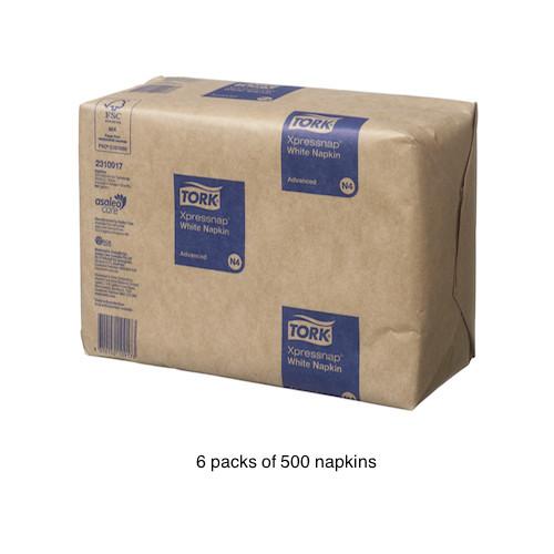 Tork® Xpressnap White Napkins N4 3000/ctn (TK2310917)