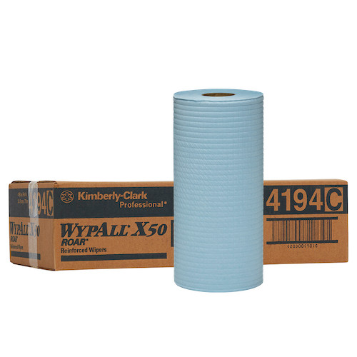 WYPALL X50 Small Roll Wipers Blue 4 Rolls 24.5cm x 70m (4194)