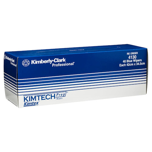 Kimtech PREP KIMTEX Pop-Up 40 Wipers Blue (KC4130) Kimberly Clark Professional