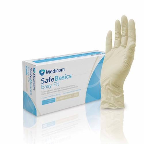 Medicom SafeBasics Easy Fit Latex Textured Exam Gloves Medium (1188C)