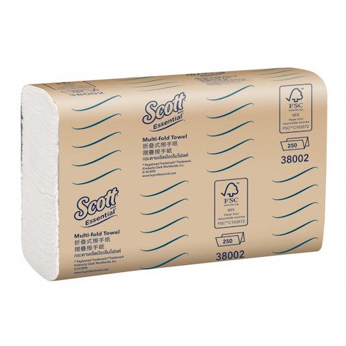 Scott Essential Multifold Hand Towel 16 x 250 Towels (38002) Kimberly Clark Professional