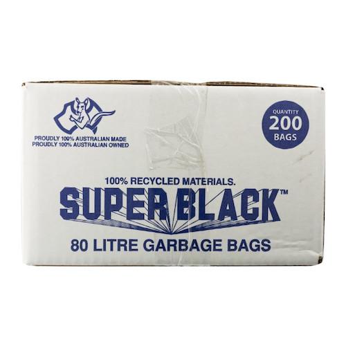 Super Black 80L Super Tough Heavy Duty Garbage Bag 200/ctn