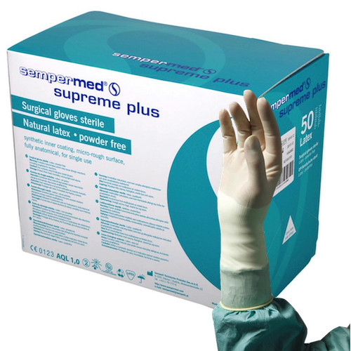 Sempermed Supreme Plus Surgical Gloves Sterile 7 1/2 Latex Powder Free (SUS822851E)