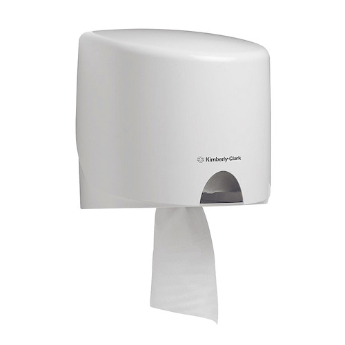 Kimberly Clark White Roll Control Centrefeed Wiper Dispenser (70180) Kimberly Clark Professional