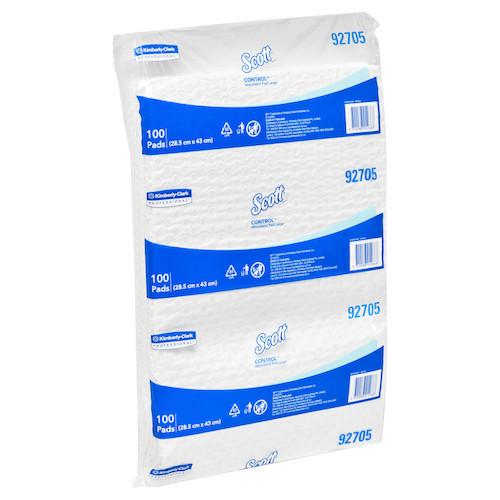 Scott Control Large Absorbent Pads 28.5cm x 43cm 100 Pads (KC92705) Kimberly Clark Professional