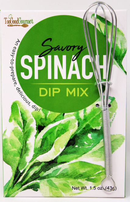 3206 1.5oz Spinach Dip Mix with metal Wisk