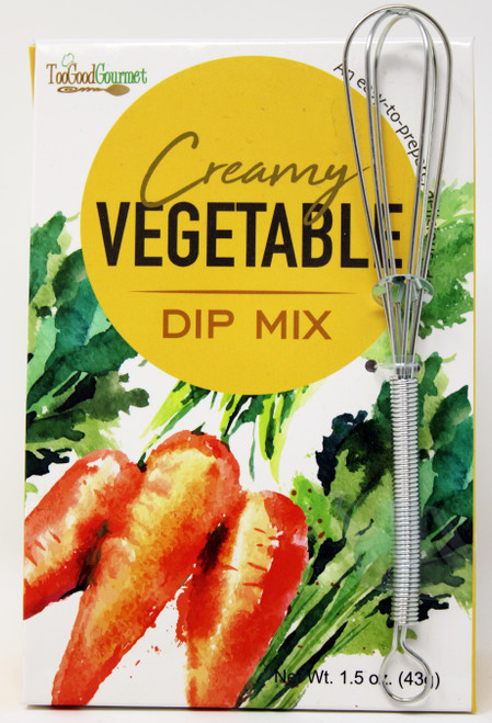 3203 1.5oz Creamy Vegetable Dip Mix with Metal Whisk