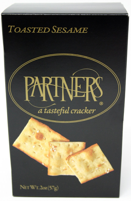 8179 2oz Partners Toasted Sesame Cracker Black Box 12/Case $3.28 each Kosher Dairy