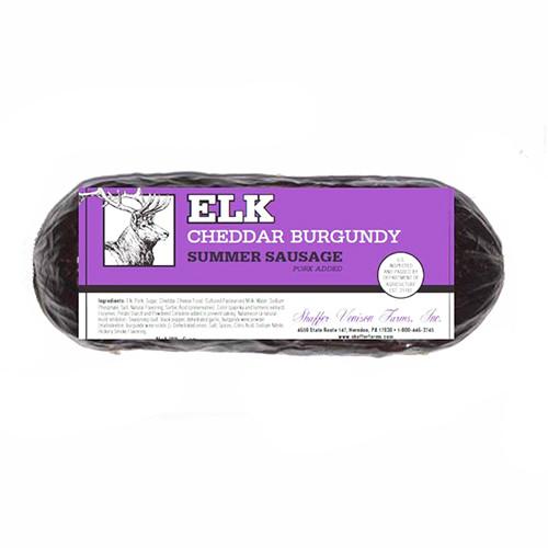 5081 6oz Elk Cheddar Burgundy Sausage