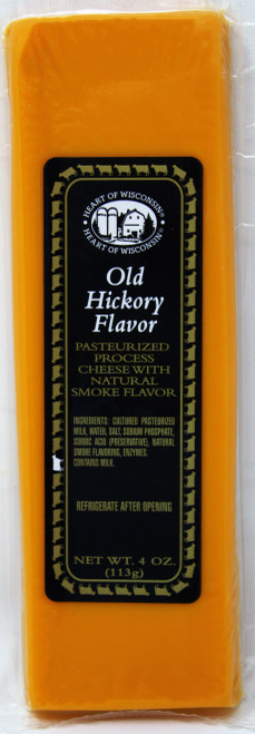 ML43222 4oz Mille Lacs Heart of Wisconsin Old Hickory Flavor Bar Kosher Gluten Free Non-GMO