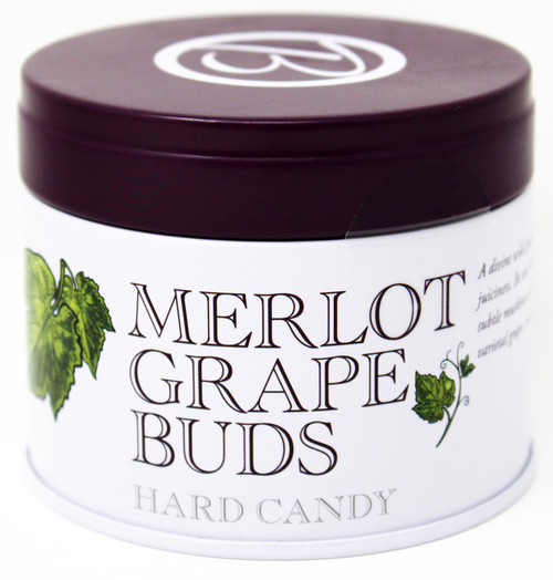 BF003 Butterfields Merlot Grape Buds Tin 3.5oz  Butterfields Merlot Grape Buds Tin, Gluten Free, 100% Dairy Free, Pure Cane Sugar We are the producer of 100% dairy free, gluten free, pure cane sugar Candy Buds located in Nashville, North Carolina. Our company makes handcrafted, old fashioned candy the same way it was done back in 1924. At Butterfields Candy Company, we proudly manufacture and package all of our products in the United States of America.