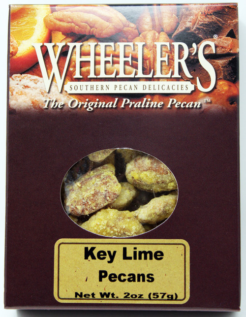 2612 2oz Key Lime Pecans Wheeler's These key lime pecans for a fruity gourmet pecan sensation!