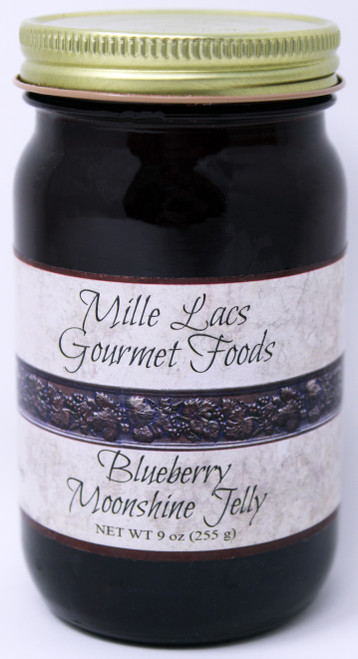 ML003 9oz Blueberry Moonshine Jelly Mille Lacs label