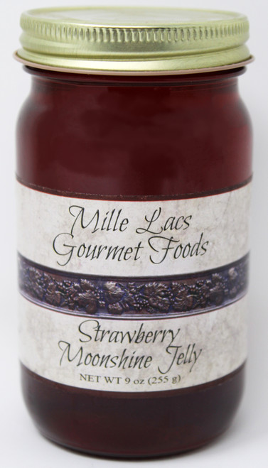ML004 9oz Strawberry Moonshine Jelly Mille Lacs Label