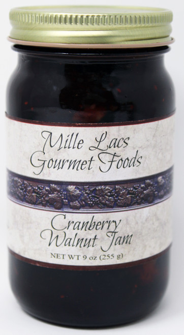 ML005 9oz Cranberry Walnut Jam Mille Lacs Label