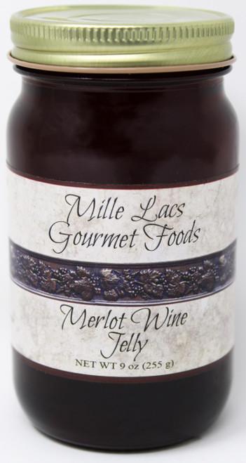 ML006 9oz Merlot Wine Jelly Mille Lacs Label