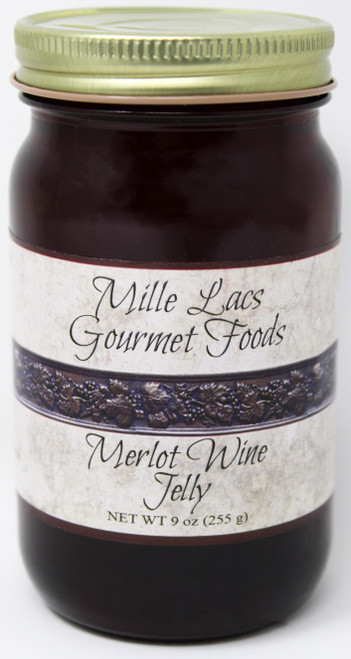 ML006 9oz Merlot Wine Jelly Mille Lacs Label