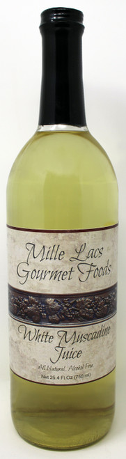 ML101 25.4oz White Muscadine Juice All Natural Mille Lacs Labeled