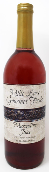 ML102 25.4oz Muscadine Juice All Natural Mille Lacs Label