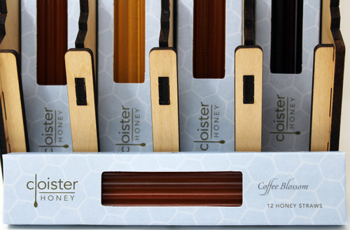 Cloister Honey straws follow the golden rule for all great snacks—easily transportable, healthily snackable, and cleverly giftable. These tasty tubes of floral goodness are a great way to support the planet and promote personal wellness while suppressing hunger throughout the day. Honey straws are a great alternative to corn syrup-packed snacks and make the perfect addition to salad dressings, fried chicken, seafood, cheese, yogurt, tea, and coffee. Always 100% pure raw natural honey.  Hand Crafted Artisan Honey