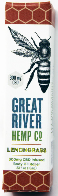 CRH001 300mg Lemongrass CBD Body Oil Roller Great River Hemp Company   What is CBD? CBD or cannabidiol is a popular natural remedy used for treating many common ailments. It is one of the many chemical compounds, known as cannabinoids, found within the Cannabis Sativa plant (which includes both hemp and marijuana plants). CBD is different than Tetrahydrocannabinol (THC), which is the main psychoactive cannabinoid found in the marijuana plant. However, CBD is not psychoactive, which makes it an appealing option for gaining relief without the mind-altering effects of marijuana or uncomfortable symptoms from certain pharmaceutical drugs. CBD oil is made by extracting CBD from the cannabis plant, most commonly the hemp plant, then diluting it with a carrier oil like coconut or hemp seed oil. What are the possible benefits of CBD? While these statements have not been confirmed or approved by FDA-approved research, CBD is inconclusively thought to provide relief or symptom reduction for a number of ailments including: Pain Relief; Anxiety and Depression; Treatment for nausea, vomiting, and pain; Anti-inflammatory qualities; Neuroprotective Properties; and Heart and circulatory benefits. FDA Disclaimer: The statements contained here have not been evaluated by the Food and Drug Administration. The efficacy of these products has not been confirmed by FDA-approved research. These products are not intended to diagnose, treat, cure or prevent any disease. All information presented here is not meant as a substitute for or alternative to information from your healthcare provider. Please consult your healthcare professional about potential interactions or other possible complications before using any product.