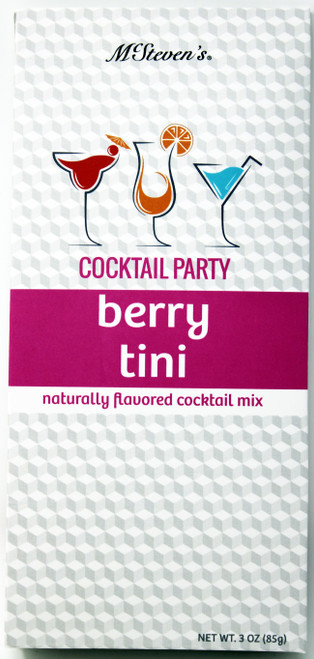 2544 3oz Berry Tini Cocktail Party Mix  Having a party or just need a little pick me up after a long day? We've got you covered! Two servings per box.