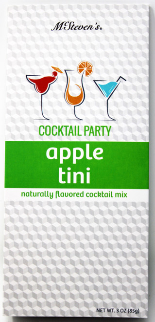 2545 3oz Apple Tini Cocktail Party Mix  Having a party or just need a little pick me up after a long day? We've got you covered! Two servings per box.