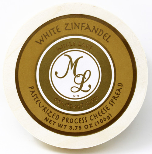 ML43201 3.75oz White Zinfandel Cheese Spread Hoop, Shelf Stable Cheese with wine