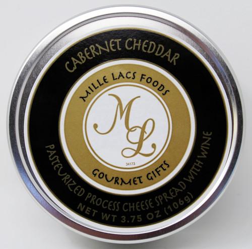ML43159 3.75oz Cabernet Wine Cheddar Cheese Tin, Shelf Stable