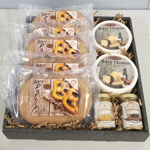 998 Out of the Ball Park Gift $20.00 Each   5- 6oz Soft Pretzels 2- 6oz Spicy Beer Cheese Hoops 2-Beer Mustards    1 Stout Ale    1 Bavarian Ale