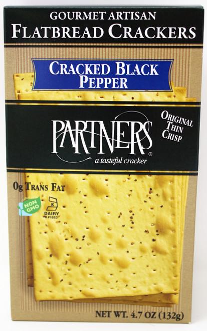 8401 4.7oz Flatbread Black Pepper Cracker Kosher Dairy, Non GMO, 0 Trans Fat
