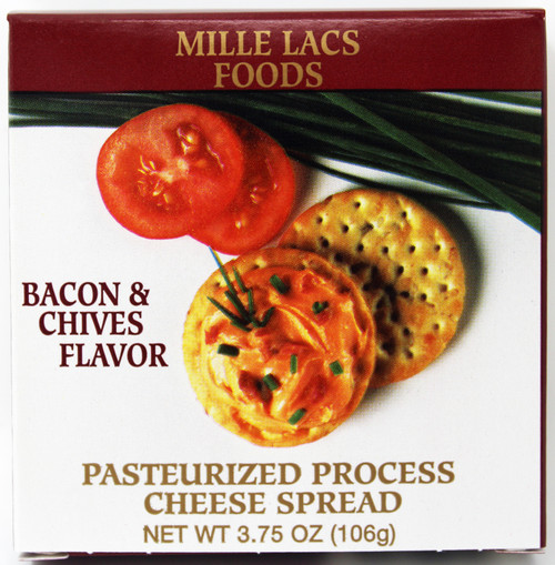 ML43147 3.75oz Bacon and Chive Cheese Spread Box, Shelf Stable Cheese Spread