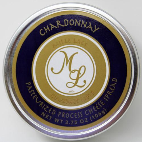 ML43149 3.75oz Chardonnay Havarti Cheese Tin Shelf Stable Cheese Spread with Chardonnay wine