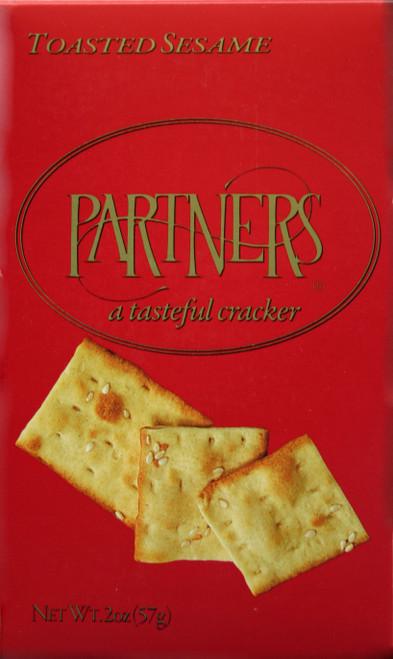8177 2oz Toasted Sesame Cracker Red Box Kosher Dairy