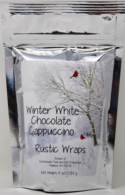 3070 4oz  Rustic Wraps White Chocolate Cappuccino Mix/ Winter design