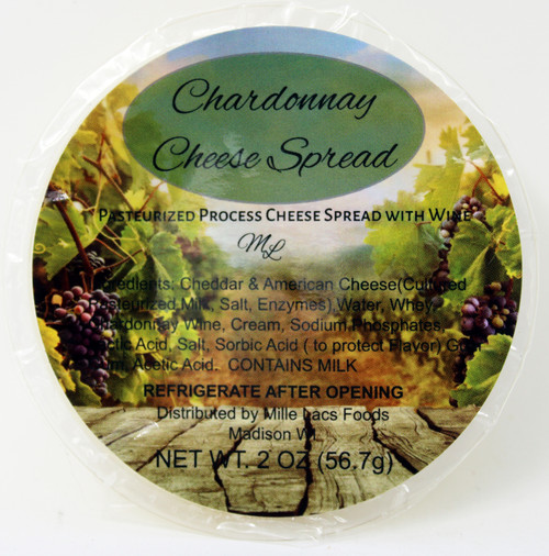 43230C Mille Lacs 2oz Chardonnay Wine Cheese Cup, Shelf Stable Gourmet Cheese Spread