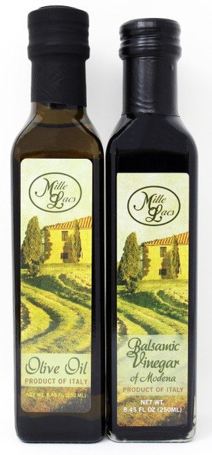 ML43165 Mille Lacs Olive Oil and Vinegar Assortment, Product of Italy, 8.45oz each