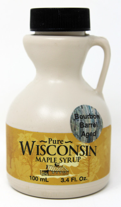 NWMF001 Northwoods Maple Farm Bourbon Maple Syrup 3.4oz, Made in Wisconsin